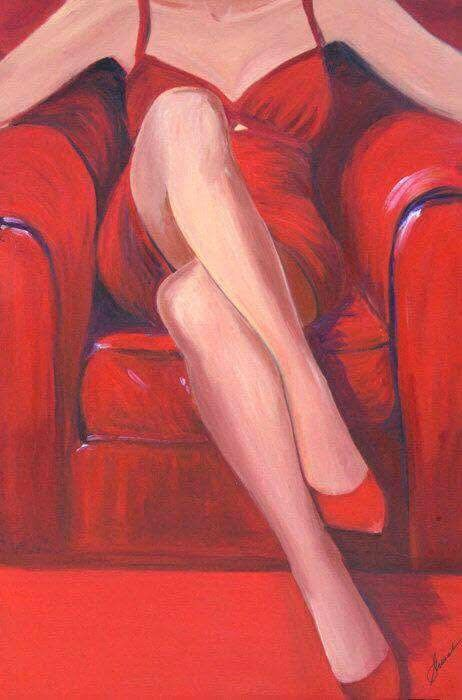 femeie rosu pt art sidor