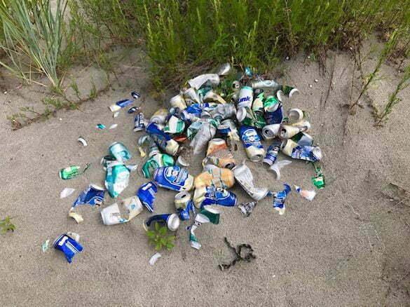 gunoaie plajă