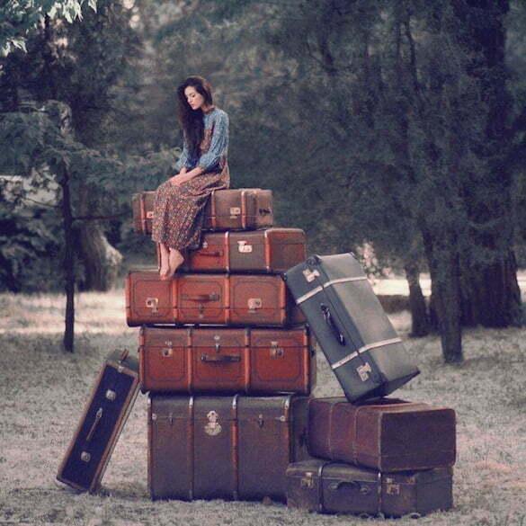 femeie valize