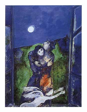 lovers in the moonlight marc chagal