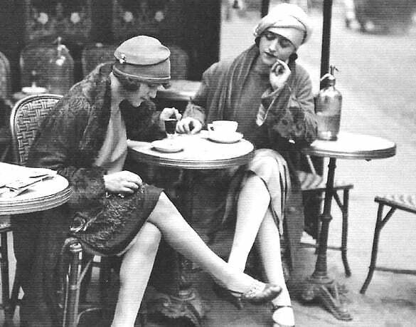 1922-Maurice-Brange-Au-Café-Solita-Solano-and-Djuna-Barnes-in-Paris