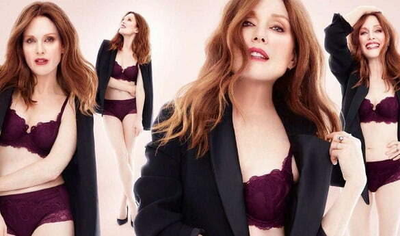 Julianne Moore has been modelling Triumph s autumn winter collection