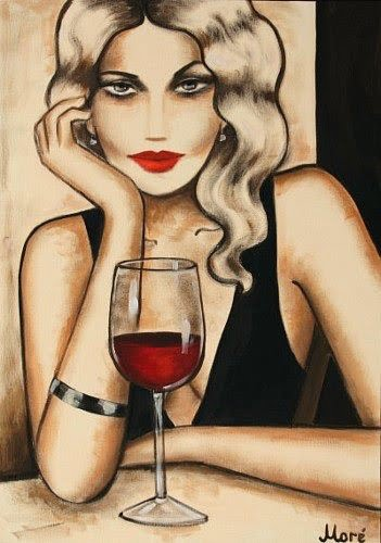 Ekaterina Moré - Woman with a glass of wine