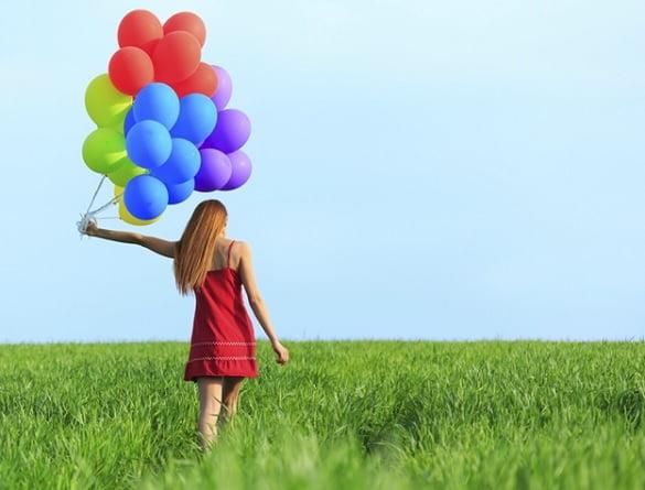 femeie baloane