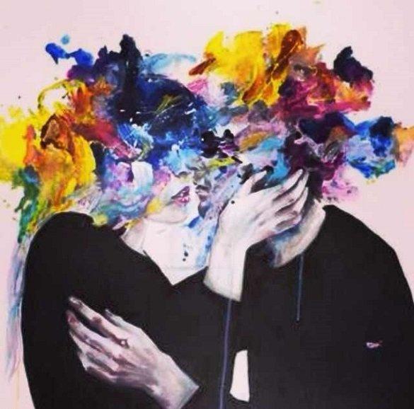 iubire arta tablou cuplu sarut
