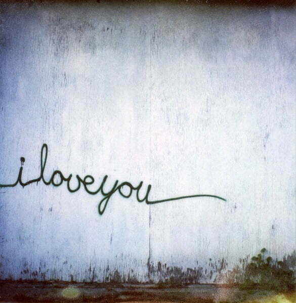 I Love You Graffiti on Wall