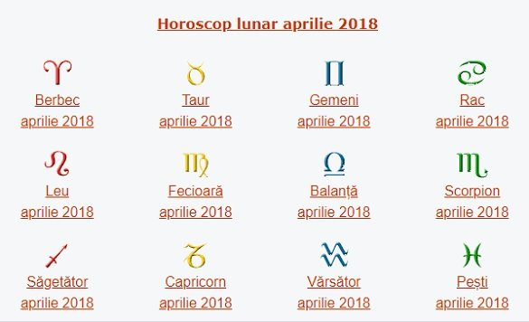 horoscop aprilie 2018