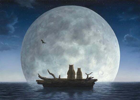 luna plina albastra