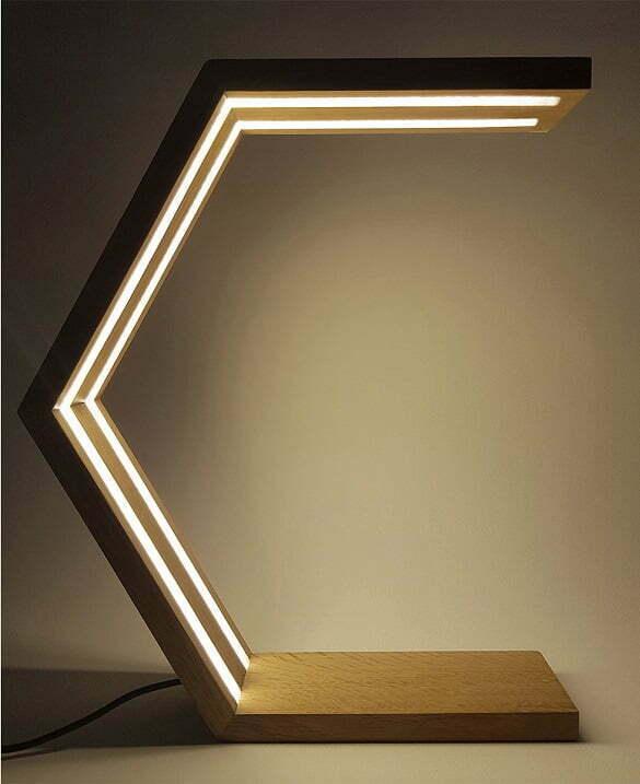 LAMURRA_lampa din lemn cu LED_Made in RO