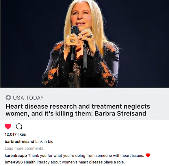 barbra sănătate inima femei