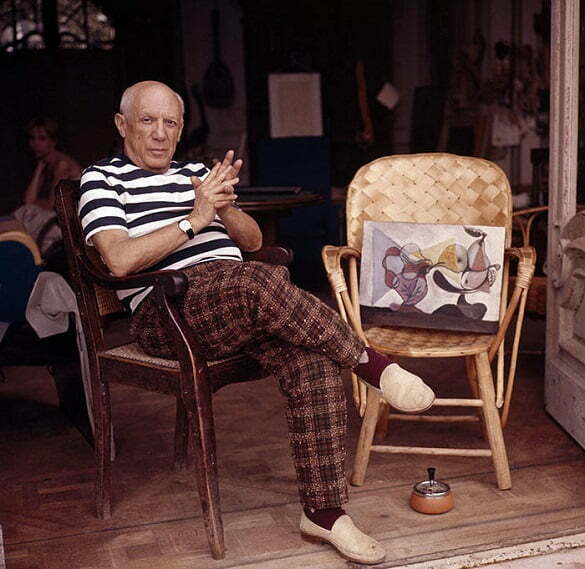 Pablo Picasso at home in Cannes,