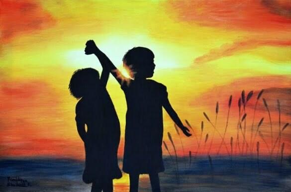 "Silvia Lasak; Painting, ""Friendship"""