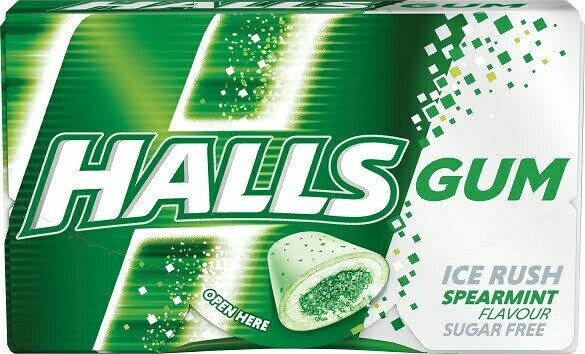 Halls-Spearmint-Gum