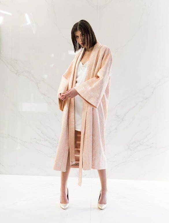 ALEKSANDRINA ROSE Silk Brocade Kimono 270Euro