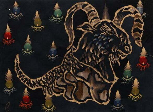 Jean Lurçat Seria zodiac Berbec(litografie)