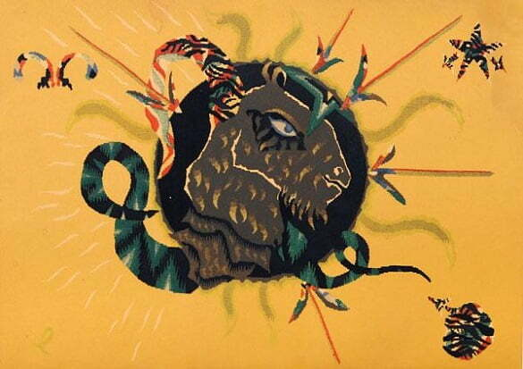 Jean Lurçat Seria zodiac Capricorn(litografie)