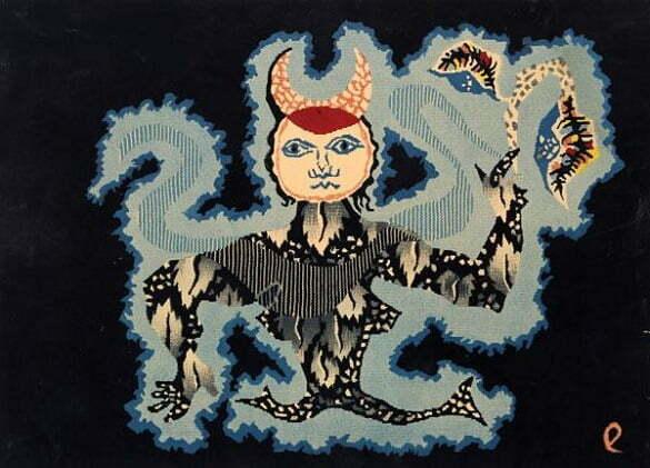 Jean Lurçat Seria zodiac Fecioară (litografie)