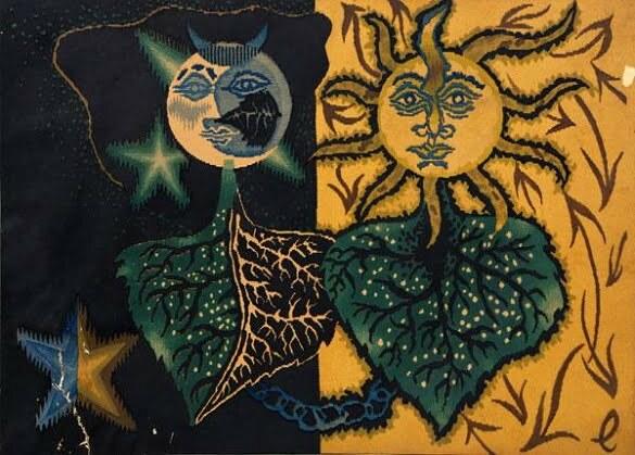 Jean Lurçat Seria zodiac Gemeni (litografie)