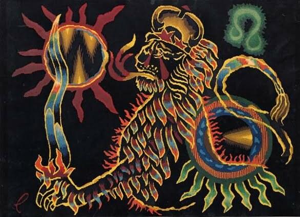 Jean Lurçat Seria zodiac Leu (litografie)