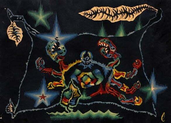 Jean Lurçat Seria zodiac Rac (litografie)