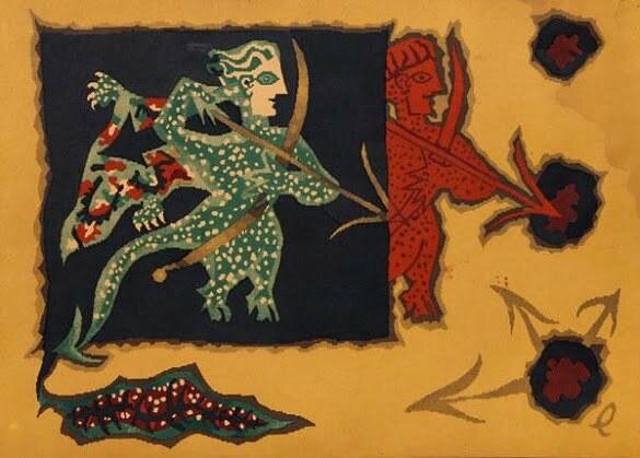 Jean Lurçat Seria zodiac Săgetător (litografie)