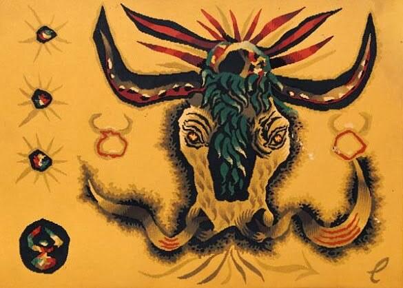 Jean Lurçat Seria zodiac Taur (litografie)
