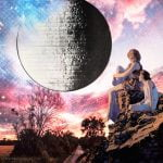 Moon insights by Candace Looft, of Beyond the Veil Tarot / Collage by Janeva Zentz